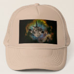 "Galaxy Cat Universe Kitten Launch Trucker Hat<br><div class=""desc"">Galaxy Cat Universe Kitten Launch &quot;cosmic cat&quot;, &quot;meme cat&quot;, cat, meme, galaxy, &quot;space cat&quot;, cats, funny, cool, space, cosmos, stars, kittens, cute, planet, grey, eyes, kitty, supernova, universe, rocket, nebula, gray, kitten, stellar, astronaut, launch, &quot;green eyes&quot;, feline, floating, heroic, multicolor, &quot;into space&quot;, &quot;in space&quot;, &quot;cat galaxy&quot;, &quot;cat with green eyes&quot;,...</div>"