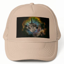 Galaxy Cat Universe Kitten Launch Trucker Hat