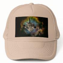 Galaxy Cat Universe Kitten Launch Trucker Hat