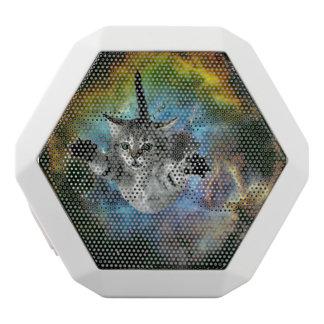 Galaxy Cat Universe Kitten Launch White Bluetooth Speaker