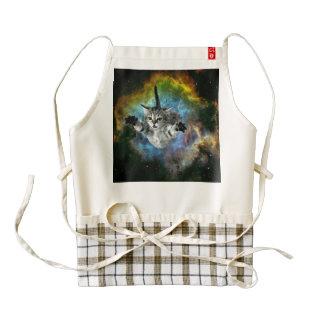 Galaxy Cat Universe Kitten Launch Zazzle HEART Apron