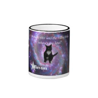Galaxy Catz - Milky Way Ringer Coffee Mug