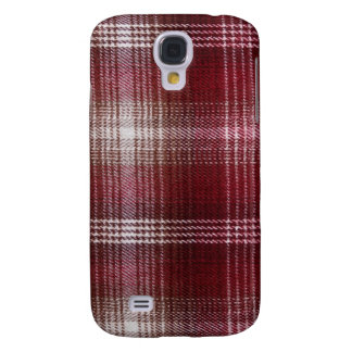 Galaxy: Check Lumberjack Textile Pattern Samsung Galaxy S4 Cover