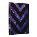 Galaxy Chevron Black iPad Folio Cover