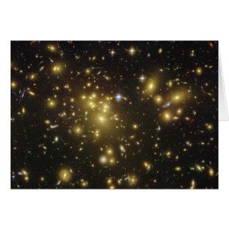 Galaxy Cluster Abell 1689 in Constellation Virgo Card