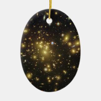 Galaxy Cluster Abell 1689 in Constellation Virgo Ceramic Ornament