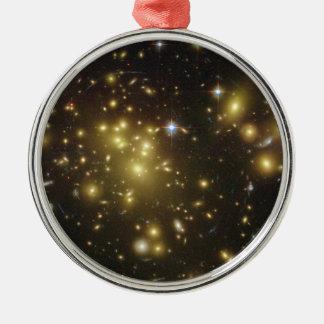 Galaxy Cluster Abell 1689 in Constellation Virgo Metal Ornament