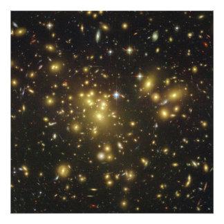 Galaxy Cluster Abell 1689 in Constellation Virgo Photo