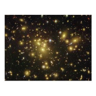 Galaxy Cluster Abell 1689 in Constellation Virgo Postcard
