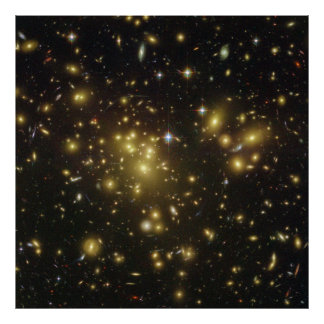 Galaxy Cluster Abell 1689 in Constellation Virgo Poster