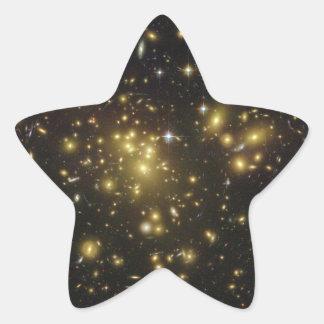 Galaxy Cluster Abell 1689 in Constellation Virgo Star Sticker