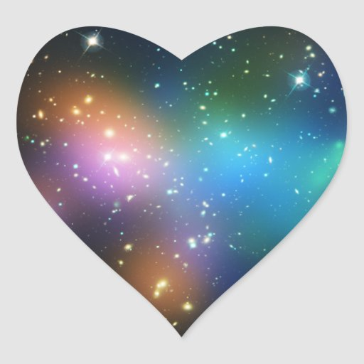 Galaxy Cluster Abell 520 Heart Stickers