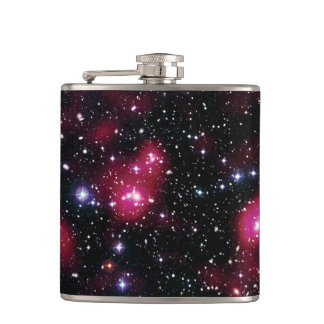 Galaxy Cluster Abell 901/902 Hubble Space Photo Hip Flask