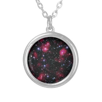 Galaxy Cluster Abell 901/902 Hubble Space Photo Silver Plated Necklace