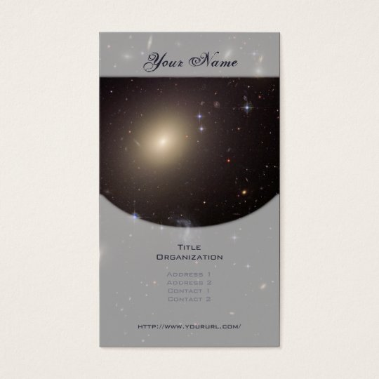 Galaxy Cluster Abell S0740 Business Card