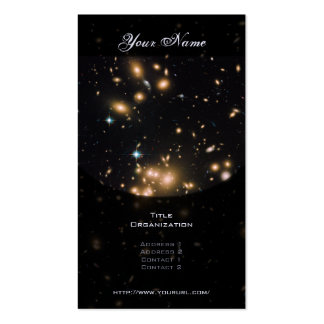 Galaxy Cluster and Gravitational Lens Abell 1689 Business Card Template