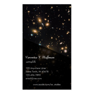 Galaxy Cluster and Gravitational Lens Abell 1689 Business Card Templates