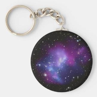Galaxy Cluster MACS J0717 Basic Round Button Keychain