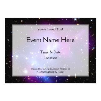 Galaxy Cluster MACS J0717 (Hubble Telescope) 5x7 Paper Invitation Card