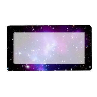 Galaxy Cluster MACS J0717 (Hubble Telescope) Shipping Label