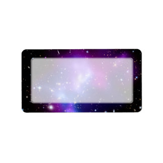 Galaxy Cluster MACS J0717 (Hubble Telescope) Address Label