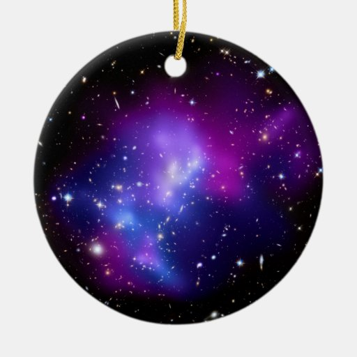 Galaxy Cluster MACS J0717 (Hubble Telescope) Double-Sided Ceramic Round Christmas Ornament