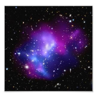 Galaxy Cluster MACS J0717 (Hubble Telescope) Photo Print