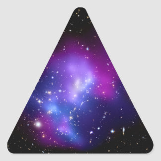 Galaxy Cluster MACS J0717 Hubble Telescope Triangle Stickers