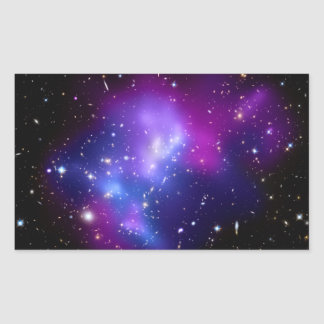 Galaxy Cluster MACS J0717 Hubble Telescope Rectangular Stickers