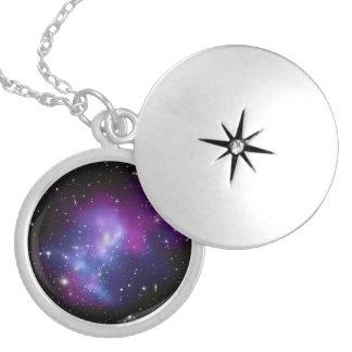 Galaxy Cluster MACS J0717 Locket Necklace
