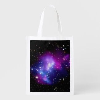Galaxy Cluster MACS J0717 Outer Space Photo Reusable Grocery Bag