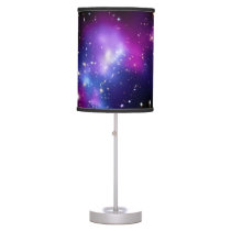 Galaxy Cluster MACS J0717 Outer Space Photo Table Lamp