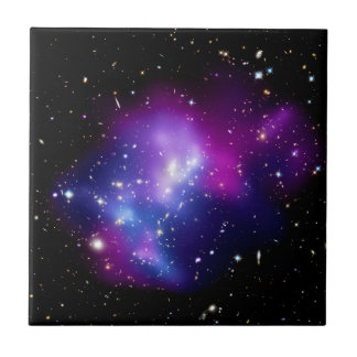 Galaxy Cluster MACS J0717 Outer Space Photo Tile