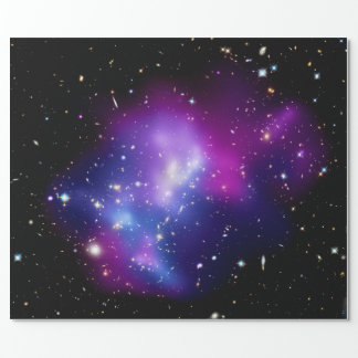 Galaxy Cluster MACS J0717 Outer Space Photo Wrapping Paper