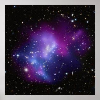 Galaxy Cluster MACS J0717 Poster print