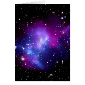 Galaxy Cluster MACS J0717 Space Greeting Card