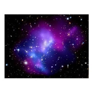 Galaxy Cluster MACS J0717 Space Postcard