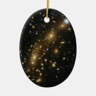 Galaxy Cluster MCS J0416.1 2403 Ceramic Ornament