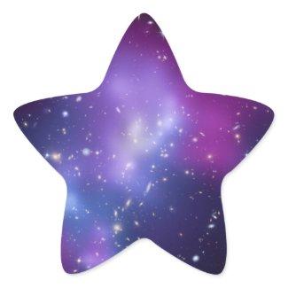 Galaxy Cluster Star Shaped Sticker sticker