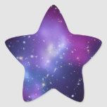 Galaxy Cluster Star Shaped Sticker