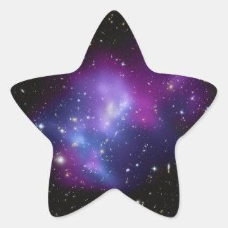Galaxy Cluster Star Shaped Sticker