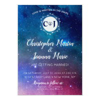 Galaxy Constellation Wedding Invitation Stars Love