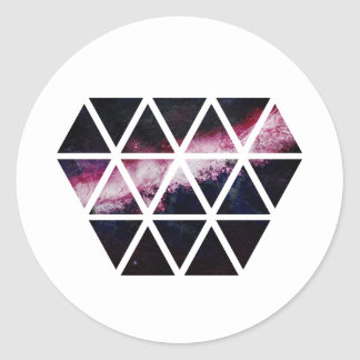 Galaxy Diamond Classic Round Sticker