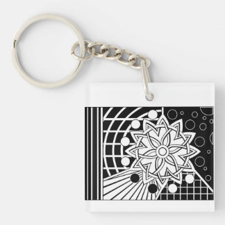 Galaxy… Double-Sided Square Acrylic Keychain