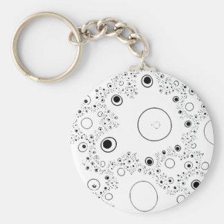 Galaxy Dust Fractals Keychain