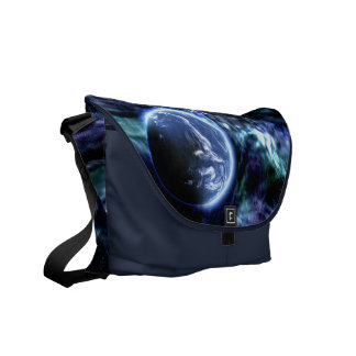Galaxy Earth Outer-Space Messenger Bag