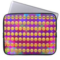 Galaxy Emojis Laptop Sleeve