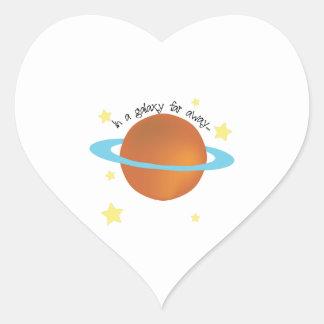 Galaxy Far Away Heart Sticker