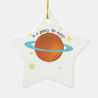 Galaxy Far Away Double-Sided Star Ceramic Christmas Ornament