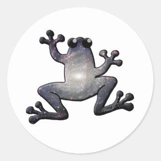 Galaxy Frog Classic Round Sticker